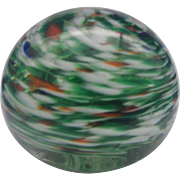 SALE Royal Roy-Al 1970 Art Glass Swirled Paperweight Ball