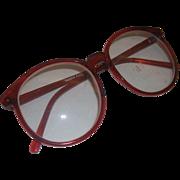 Red Frames Eyeglasses Taiwan 1980s