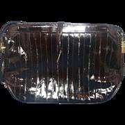 SOLD Dark Brown Eelskin Purse Shoulder Bag Made in Korea