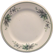 Shenango RimRol Green Leaves Bread Plate Restaurant Ware