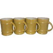 SALE Fire-King Olive Green Ranger Mug Set of 4