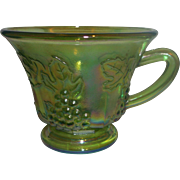 SOLD Indiana Glass Harvest Grape Colony Green Carnival Punch Cup