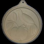 Bird Apple Cookie Mold Stoneware Museum of American Folk Art