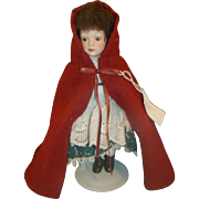 Avon Little Red Riding Hood Porcelain Doll 1985 Fairy Tale Collection