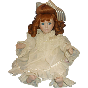 SALE Colleen Red Head Porcelain Doll Victorian Lace Collection Corinne Layton Ashton Drake
