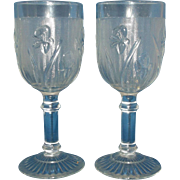 Jeannette Iris & Herringbone Wine Glass Stem Pair