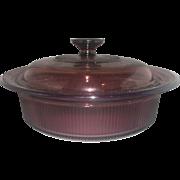 Corning Visions Cranberry Round Casserole 1.5 QT 1.5L