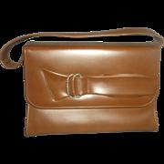 SALE Naturalizer Brown Vinyl Handbag Bow Front