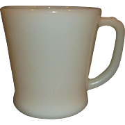 Fire-King Ivory Glass D Handle Mug Coffee Cup
