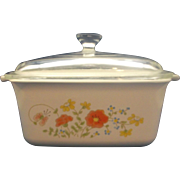 Corning Ware Wildflower Covered 1.5L Deep Rectangle Casserole Dish Pyrex Lid