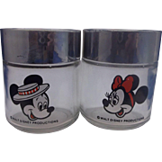 SALE Mickey Mouse Minnie Mouse Walt Disney Glass Salt Pepper Shakers Houze Disneyland