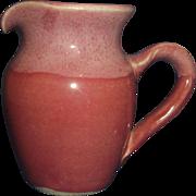 Pink Glazed Hand Made Creamer Old Fort Pottery John Garrou
