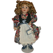 Mary Mary Quite Contrary Porcelain Doll Wendy Lawton Ashton Drake 14 IN