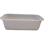 Pyrex White Opal Milk Glass Undecorated Loaf Pan