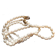 Ringed Freshwater Circle Pearls 18 IN Necklace 7 IN Bracelet Set South Seas Tahitian