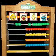 Vintage Sesame Street Toy-Wooden Abacus Big Bird Ernie & Bert Cookie Monster Muppets Plastic .