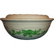 Homer Laughlin Oven Serve Green Roses Covered Casserole 1 Qt