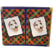 Fox Terrier Playing Cards Double Plastic Coated Deck in Box Deluxe St Regis Canasta Bridge
