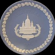 Wedgwood 1972 Christmas Blue Jasperware Plate St Pauls Cathedral