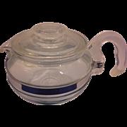 SOLD Pyrex Flameware Teapot 6 Cup Size 8336