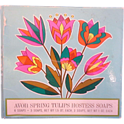 SALE Avon Spring Tulips Hostess Soaps 1970 Mint In Box