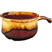 Robinson Ransbottom Brown Drip Handled Soup Bowl Bean Pot