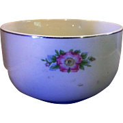 Hall Rose White Sani-Grid 6 IN Mixing Bowl Superior Quality Kitchenware 1940s