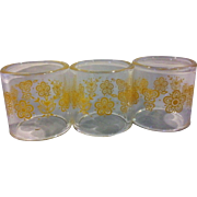 SALE Pyrex Corelle Coordinates Butterfly Gold Napkin Rings Set of 3