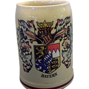 SALE Bayern Coat of Arms Decorated Original King Beer Stein .5L Western Germany