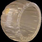 Lead Crystal Cigar Ashtray Ball Orb Tilt Italy