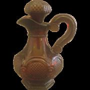 Avon Cape Cod Ruby Red Glass Cruet Stopper Oil Vinegar