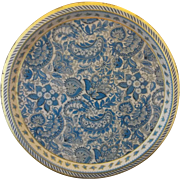 Blue Paisley Vienna Woods Made in England Tin Serving Tray