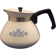 SALE Corning Cornflower Corningware 6 Cup Tea Pot