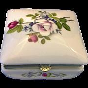 SOLD Rose Bouquet Otagiri Japan Porcelain Trinket Box Square