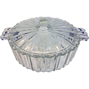 Hocking Fortune Clear Candy Dish Depression Glass