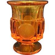 SALE Fostoria Amber Coin Glass Cigarette Urn