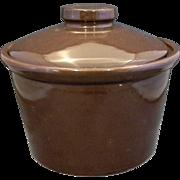 Brown Glazed Pottery Bean Pot Crock Baker