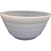 SALE Hazel Atlas Moderntone Platonite White Milk Glass 9 IN Mixing Bowl