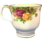 Royal Albert Old Country Roses Footed Smooth Mug Montrose Shape