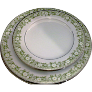 SALE Noritake Princeton Dinner Salad Plates Green Floral