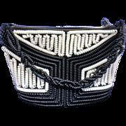 SOLD Black White Telephone Cord Spiral Purse Handbag Vintage 1940s-50s - Red Tag Sale Item