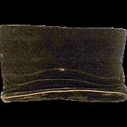 Crown Lewis Black Velvet Clutch Purse Evening Bag