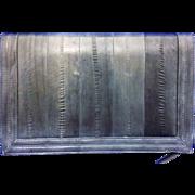 Grey Eelskin Envelope Rectangle Purse Convertible Clutch