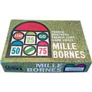 SOLD Mille Bornes Parker Brothers French Road Race Card Game 1962