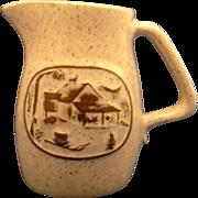 Onion River Pottery Stoneware Creamer Syrup Jug Pitcher
