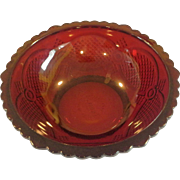 Avon Cape Cod Centennial Edition 8 IN Round Serving Bowl Ruby Red Glass