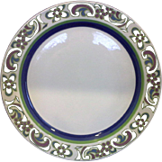 Noritake Craftone Polka Blue Green Dinner Plate