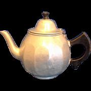 SALE Mirro Aluminum Colonial Teapot 1920s Wooden Handle