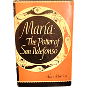 SALE PENDING Maria the Potter of San Ildefonso Harcover 10th Edition 1978 Printing Artist Sign