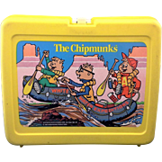 Alvin and the Chipmunks Yellow Plastic Lunchbox 1984